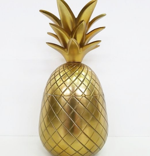 Ananas doré décoratif - WOM Évènements