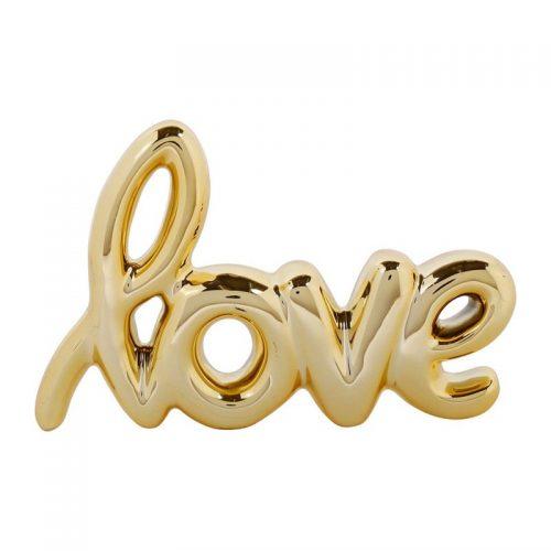 LOVE doré en céramique